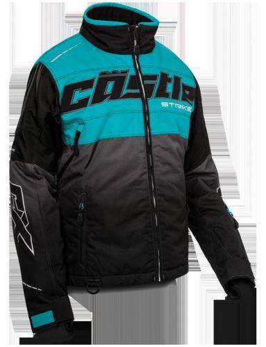 Manteau d'hiver Castle X Strike-G3, dames, long, turquoise/noir