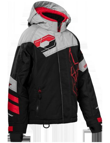 Castle X Code Youth Snow Jacket, Black/Silver/Red Product image