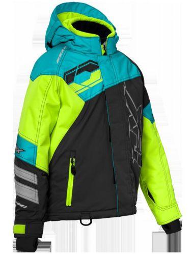 Manteau d'hiver Castle X Code, jeunes, haute visibilité, turquoise