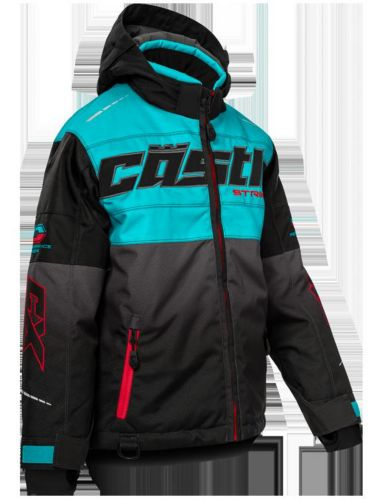Castle X Strike-G3 Youth Snow Jacket, Turquoise/Red/Black Product image