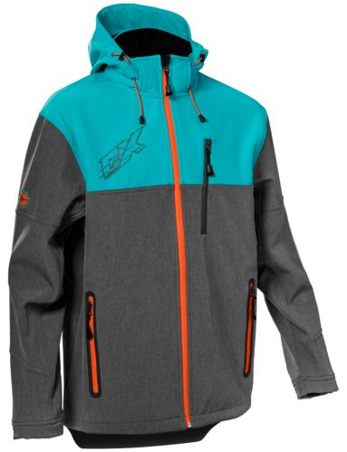 Castle X Barrier G3 Men's Snowmobile Jacket, Turquoise/Charcoal Product image