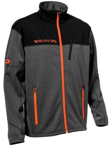 Castle X Fusion G3 Men's Snowmobile Jacket, Orange/Charcoal Product image