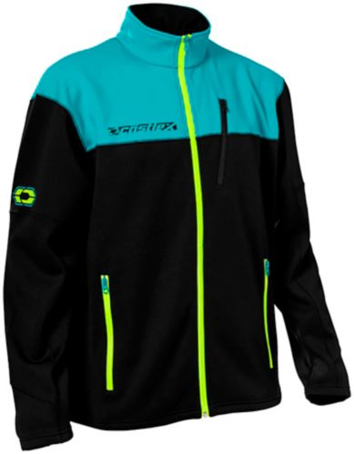 Castle X Fusion G3 Men's Snowmobile Jacket, Turquoise/Black Product image