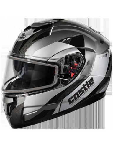 Castle X Atom SV Transcend Adult Snowmobile Helmet, Black