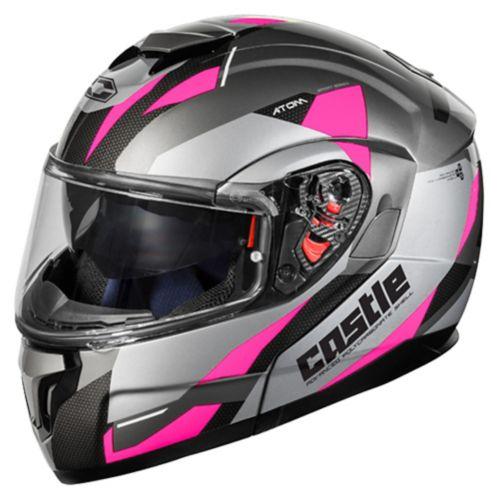 Castle X Atom SV Transcend Adult Snowmobile Helmet, Pink Product image