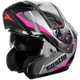 Castle X Atom SV Transcend Adult Snowmobile Helmet, Pink   Castle Xnull