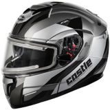 Castle X Atom SV Transcend Adult Snowmobile Helmet with Electric Shield, Black | Castle Xnull