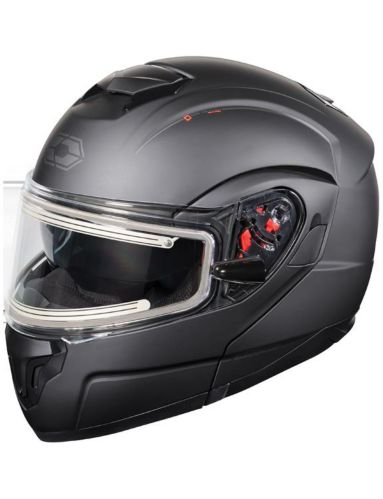 Castle X Atom SV Modular Adult Snowmobile Helmet with Electric Shield, Matte Black Product image