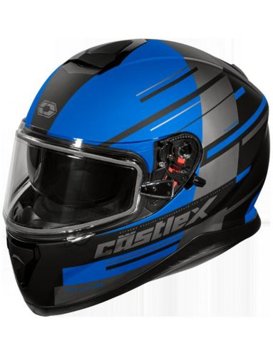 Castle X Thunder 3 SV PL Snowmobile Helmet, Matte Black Product image