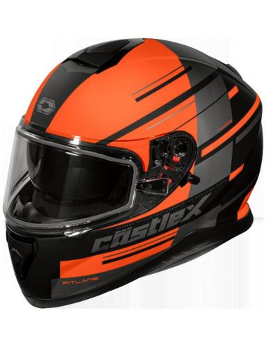 Castle X Thunder 3 SV PL Snowmobile Helmet, Matte Orange Product image