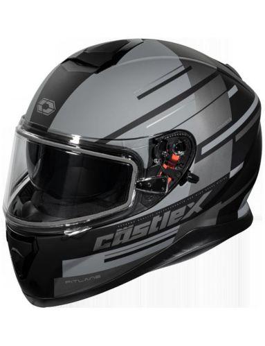 Castle X Thunder 3 SV PL Snowmobile Helmet, Matte Grey Product image