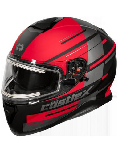 Castle X Thunder 3 SV PL Snowmobile Helmet with Electric Shield, Matte Red Product image