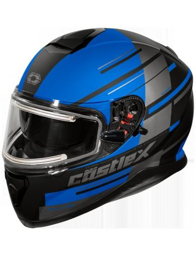 Castle X Thunder 3 SV PL Snowmobile Helmet with Electric Shield, Matte Black Product image