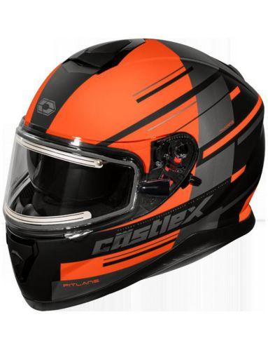 Castle X Thunder 3 SV PL Snowmobile Helmet with Electric Shield, Matte Orange Product image