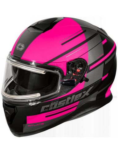 Castle X Thunder 3 SV PL Snowmobile Helmet with Electric Shield, Matte Pink Product image