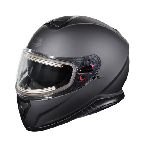 Castle X Thunder 3 SV Adult Snowmobile Helmet with Electric Shield, Black Product image