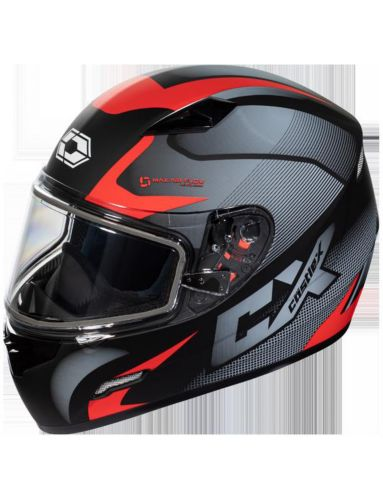 Castle X Mugello Squad Adult Snowmobile Helmet, Matte Red
