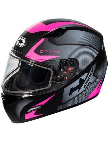 Casque de motoneige Castle X Mugello Squad, adulte, rose mat