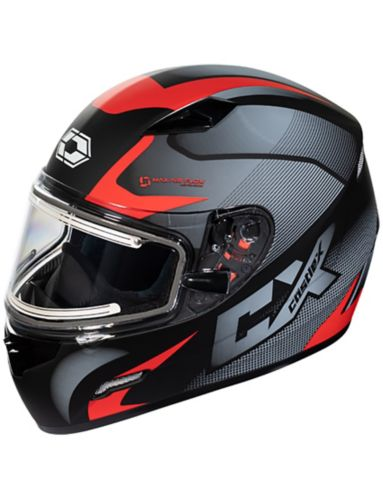 Castle X Mugello Squad Adult Snowmobile Helmet with Electric Shield, Matte Red