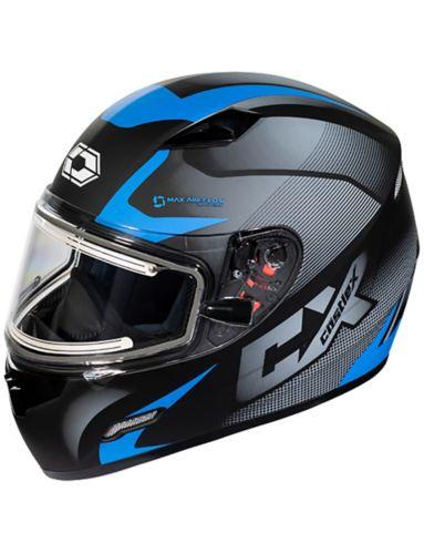Castle X Mugello Squad Adult Snowmobile Helmet with Electric Shield, Matte Blue