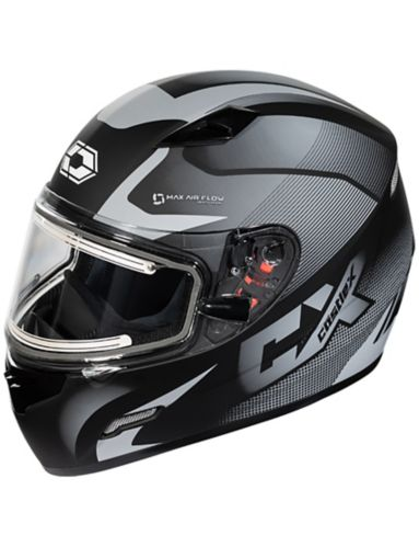Castle X Mugello Squad Adult Snowmobile Helmet with Electric Shield, Matte Grey Product image