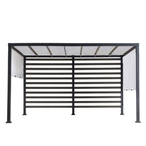 Sunjoy Modern Steel Pergola Adjustable Shade, White, 10 x 12-ft Product image