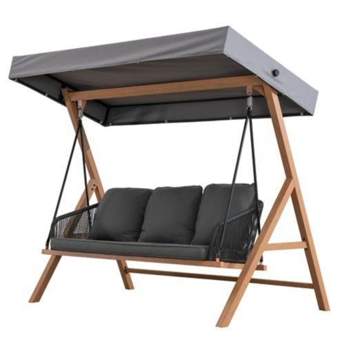Sunjoy Marina 3-Seat Patio Swing, Grey Product image