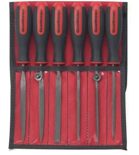 GearWrench Bastard File Set, 4-in, 6-pc