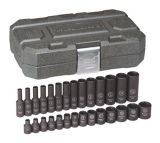 GearWrench 6 Point Drive Standard & Deep Impact Socket Set, 1/4-in, 28-pc | Gearwrenchnull