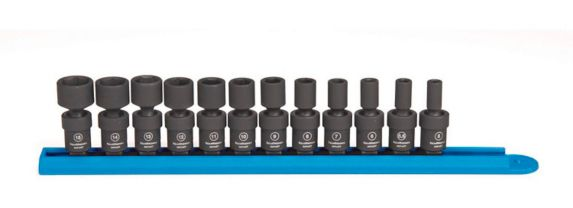 GearWrench 6 Point Drive Standard Universal Impact Socket Set, Metric, 1/4-in, 12-pc Product image