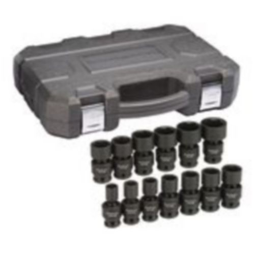 GearWrench 6 Point Standard Drive Universal Impact Socket Set, SAE, 1/2-in, 13-pc Product image