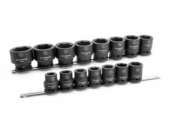 GearWrench 6 Point Standard Drive Impact Socket Set, SAE, 3/4-in, 15-pc Product image