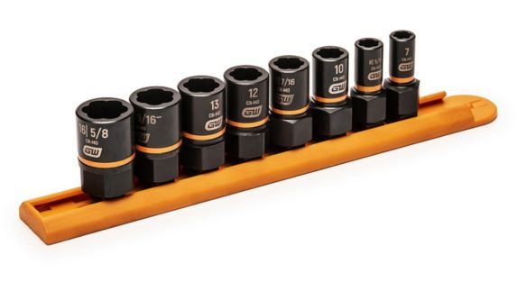 GearWrench Bolt Biter™ Impact Extraction Socket Set, 8-pc Product image