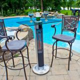 Westinghouse EnerG+ Infrared Electric Patio Heater, Square Top Bar Height | Westinghousenull