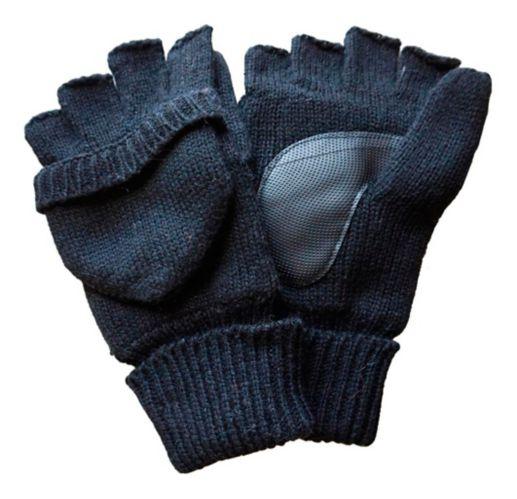 Mitaines rabattables en laine de récupération Yukon Gear avec pochette pour chauffe-mains
