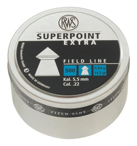 RWS Superpoint Extra .22 Airgun Pellets, 0.94-g, 500-pk Product image