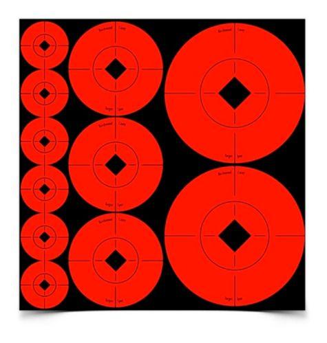 Cibles Birchwood Casey Target Spots, paquet varié, orange Image de l'article