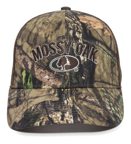 Mossy Oak Country Mesh Back Hat, Brown Product image
