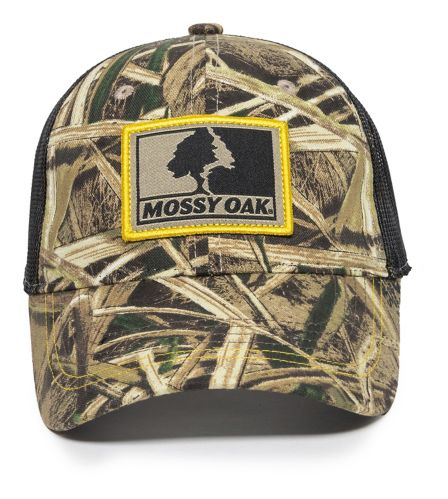Mossy Oak Shadowgrass Blades Mesh Back Hat, Black Product image