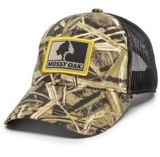 Mossy Oak Shadowgrass Blades Mesh Back Hat, Black | Outdoor Capnull