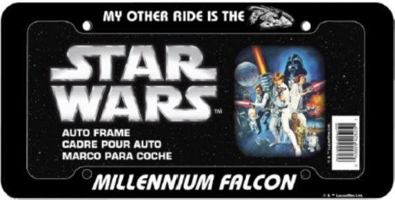 Cadre de plaque d'immatriculation chrome Star Wars Image de l'article