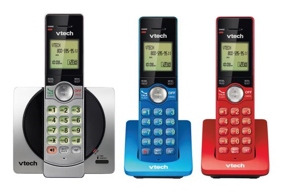 Téléphones colorés VTech avec afficheur, 3 combinés