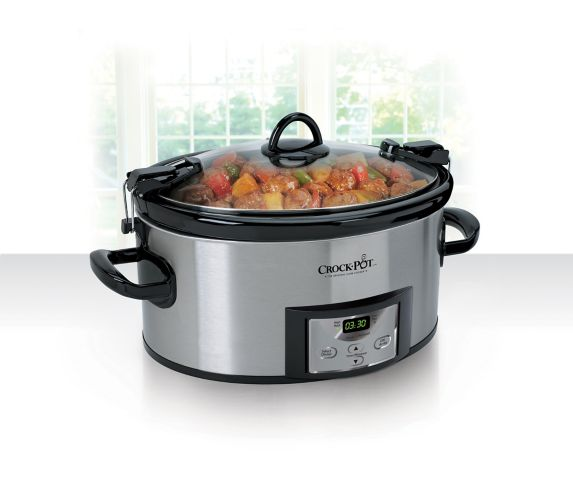 Crock Pot Programmable Slow Cooker with Travel Lid, 7-qt