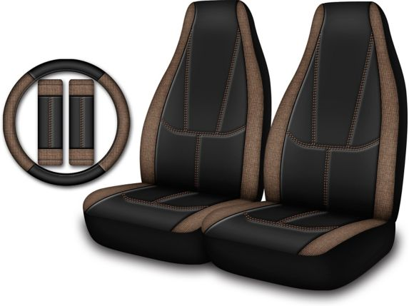 Truck Seat Cover Kit, Brown