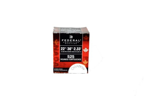 Federal .22 Long Rifle Copper Plated Hollow Point Bulk Pack, 525 Round