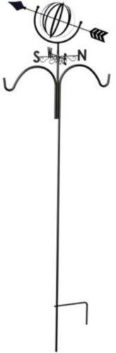 Girouette sur crochet à volutes Panacea, sphère armillaire, 78 po