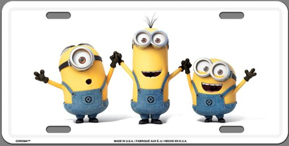 Minions License Plate Tag Product image