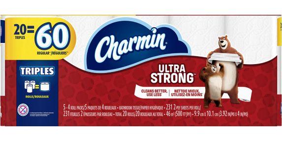 Papier hygiénique Charmin Ultra Strong, 20 rouleaux triples