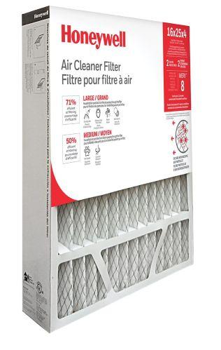 Honeywell MERV 8 Furnace Filter, 16-in x 25-in