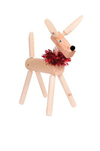Rustic Wood Deer